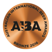 Australian International Beer Awards 2016 Bronze