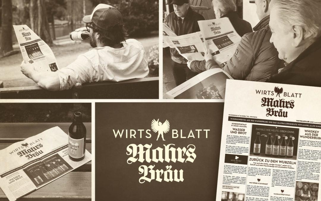 """Erste Ausgabe des """"Mahrs Bräu Wirtsblatt"""" veröffentlicht"""