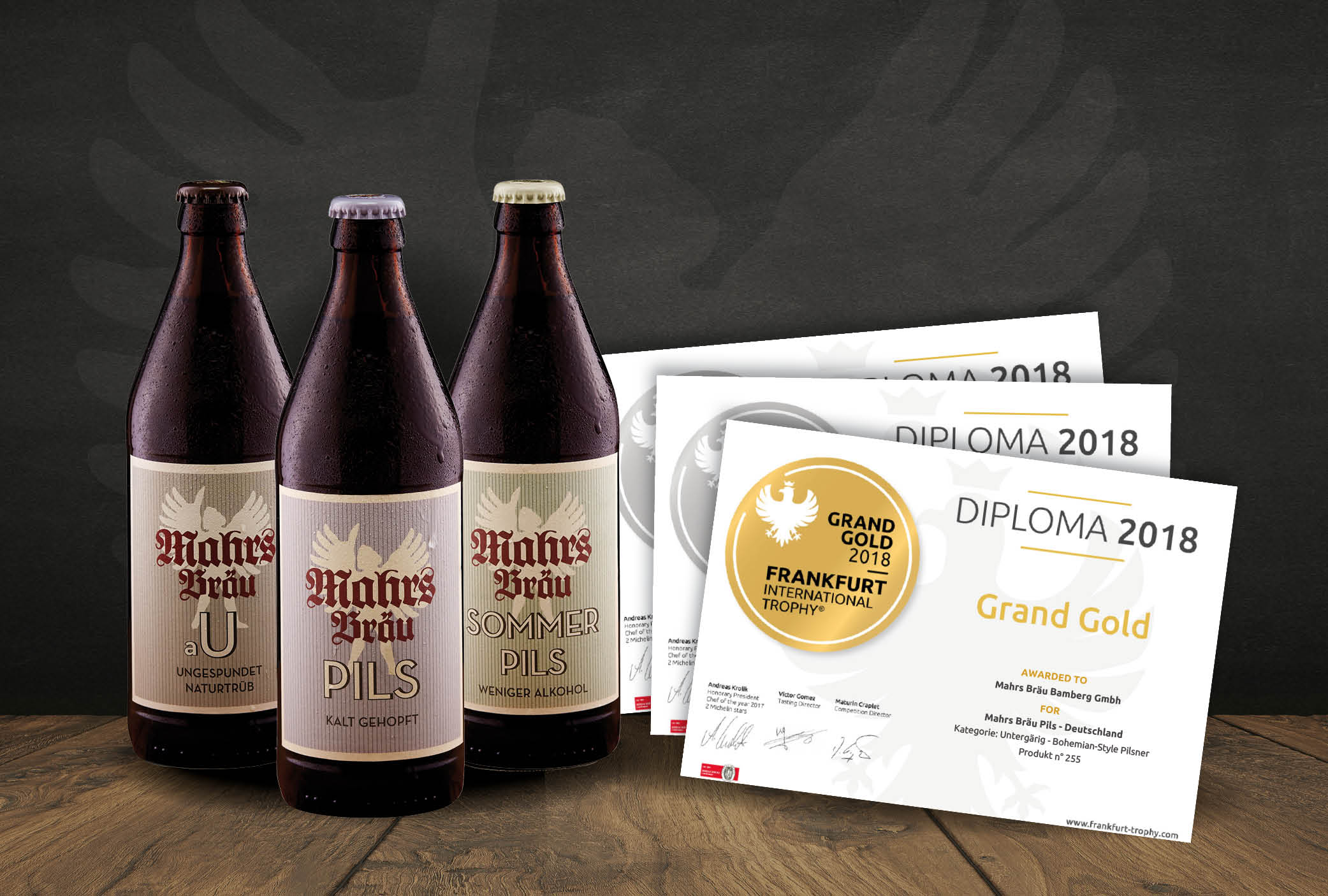 "The Hat Trick – Mahr's Bräu ""Pils"", ""aU"" and ""Sommerpils"" bring home gold and silver"