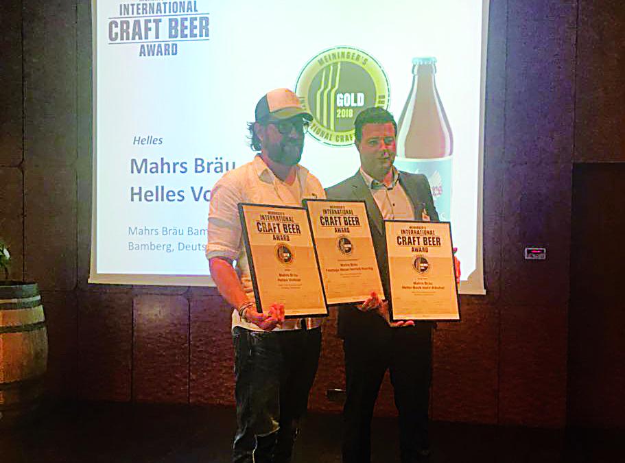 """1x Gold und 2x Silber bei """"Meininger´s Craft Beer Award 2018"""""""