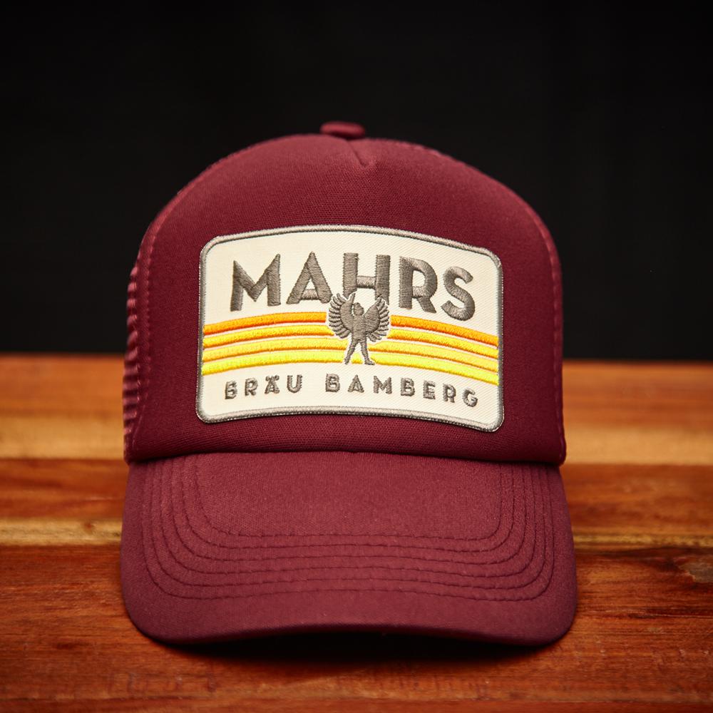 Trucker_Cap_Front_mahrs_Braeu_weinrot