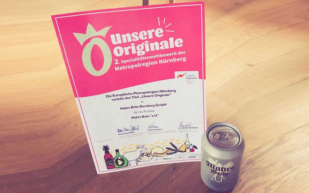 """Our Originals"" – Awarded to Mahr's Bräu Bamberg"